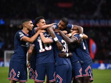 ¡Sin camiseta! Así celebraron Mbappé, Messi y Neymar la primera victoria en Champions